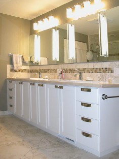 White Enamel Bath Vanity