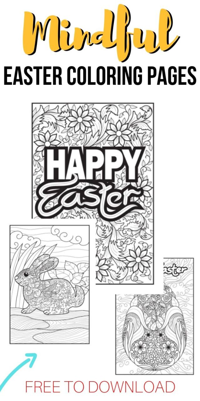 FREE Printable Easter Adult Coloring Pages  Unique Gifter