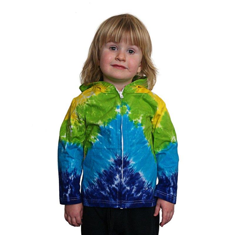Rainbow sequinned tie dye heart hooded jacket - artnomore.co.uk