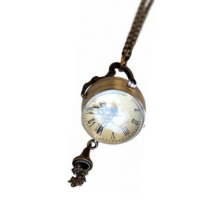 retro magnifying clock pendant