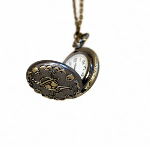 steampunk pocket watch pendant funky skull clock