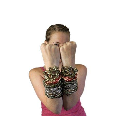 Ornate Snake Bracelets