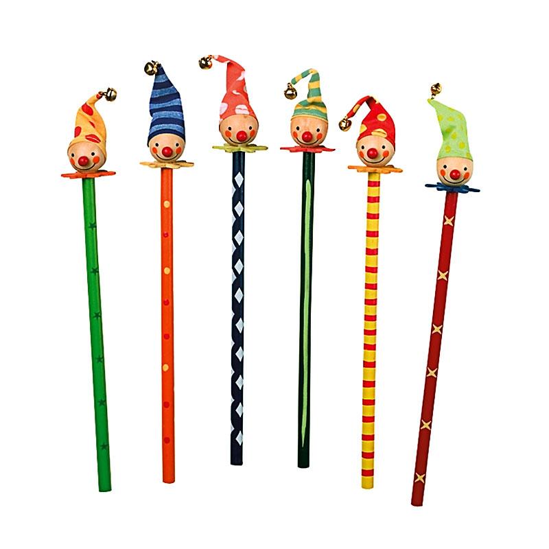Clown Pencils – wooden clown pencils from Legler - artnomore.co.uk