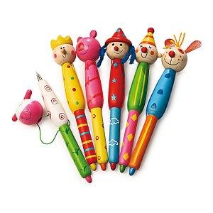 Wooden Heads - wooden pens from Legler - artnomore.co.uk