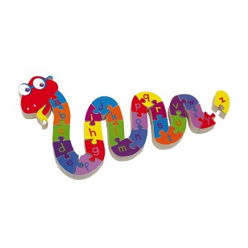 Snake ABC – alphabet puzzle, educational toy - artnomore.co.uk