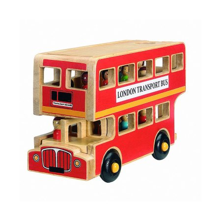 Lanka Kade London bus - fair trade wooden toy - artnomore.co.uk