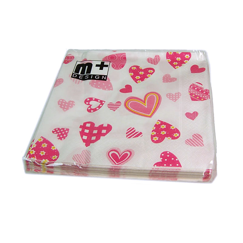 Valentine's Day Little Hearts Gift Napkin - artnomore.co.uk
