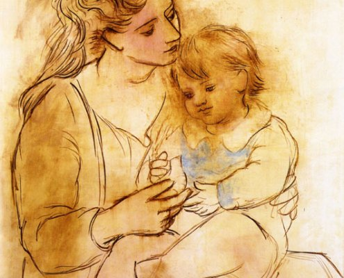 mother-and-child-1922-Pablo Picasso