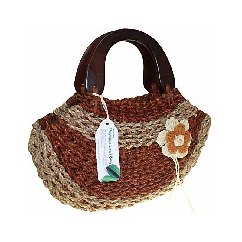Wood Handle Happy Pandan - Rust - artnomore.co.uk gift shop