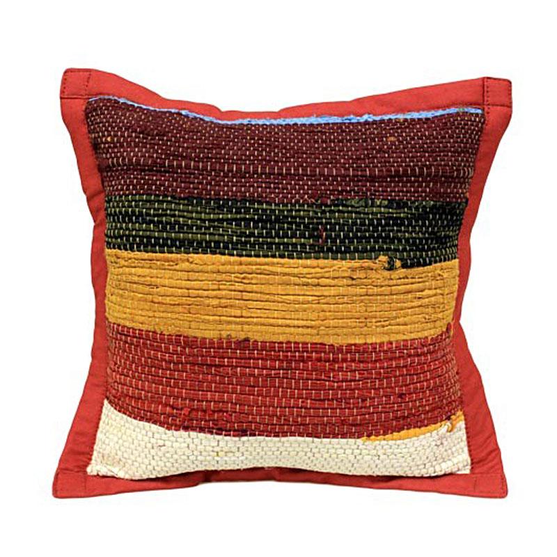 Rug Cushion Cover - Burgandy - artnomore.co.uk gift shop