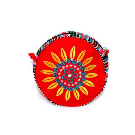 Tibetan Wheel Of Life Bag - Blood Red - artnomore.co.uk gift shop