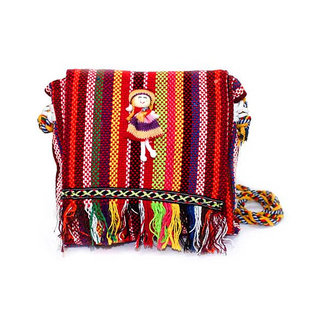 Tibetan Handbags - Fringe Bag with Doll Decor - artnomore.co.uk gift shop