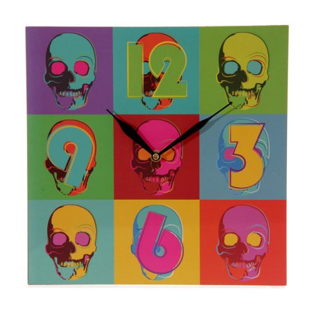 ted smith pop skull picture clock