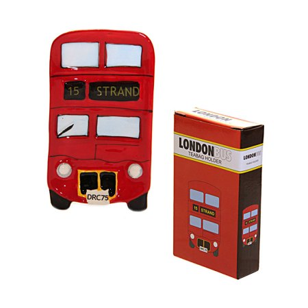 london bus tea bag holder image