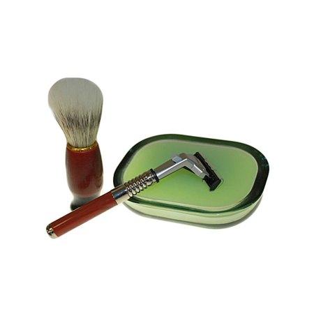 old school shaving kit peppermint tea three
