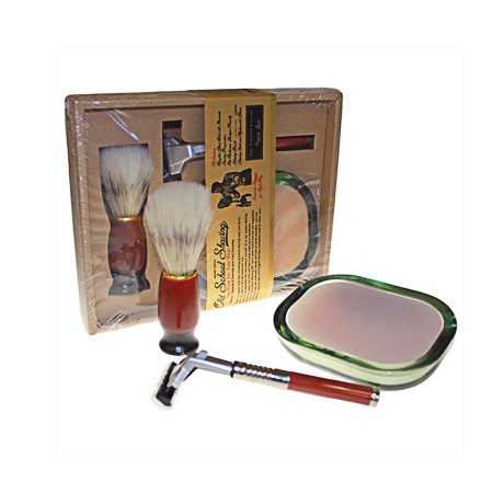 old school shaving kit with aromatic soap