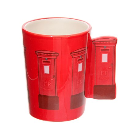 ted smith mugs red letterbox handle ceramic mug image 2