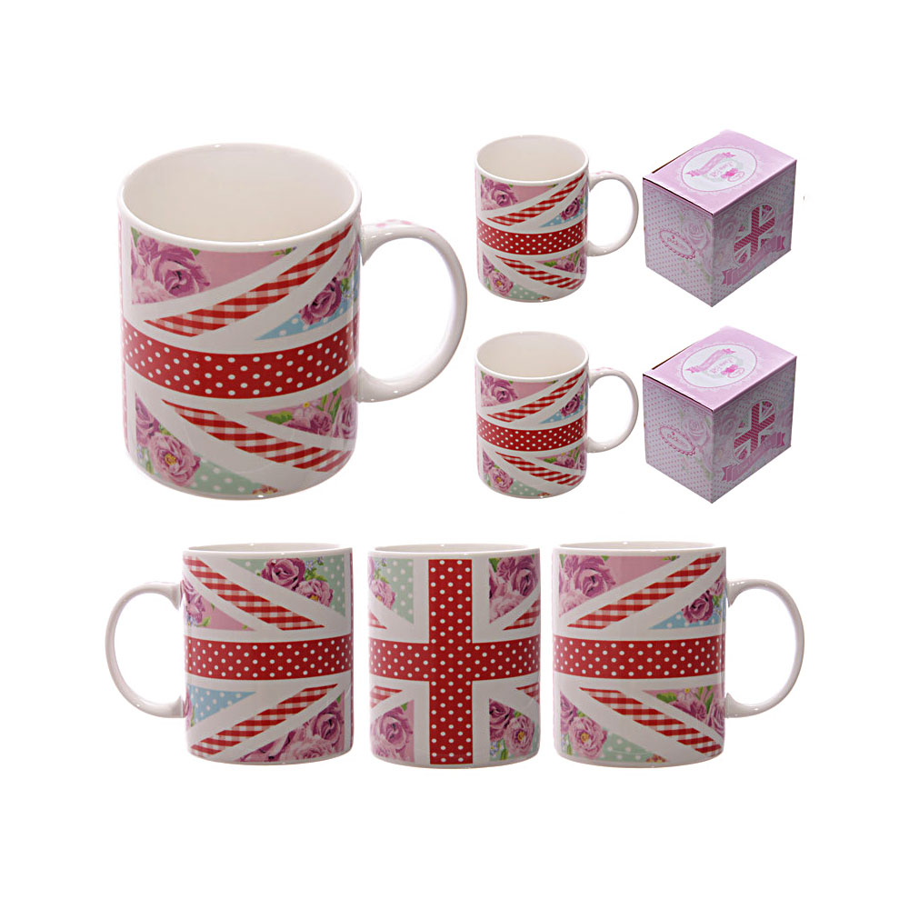 Chintz Union Jack Bone China Mug image