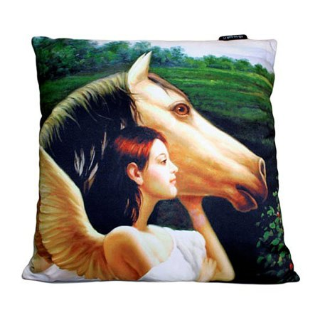 art cushion covers based on painting Angel with Horse
