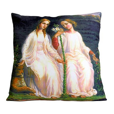 art cushion covers two angels