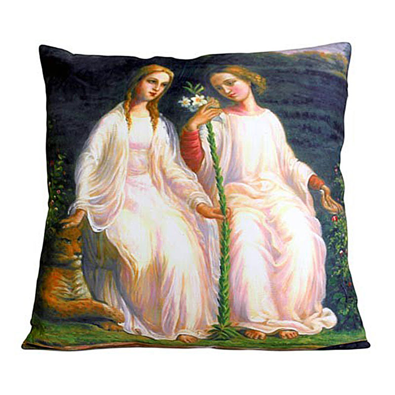 art cushion covers two angels