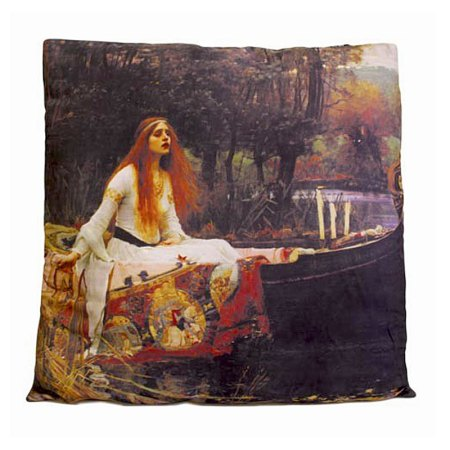 art cushion covers based on painting The Lady of Shalott by John William Waterhouse