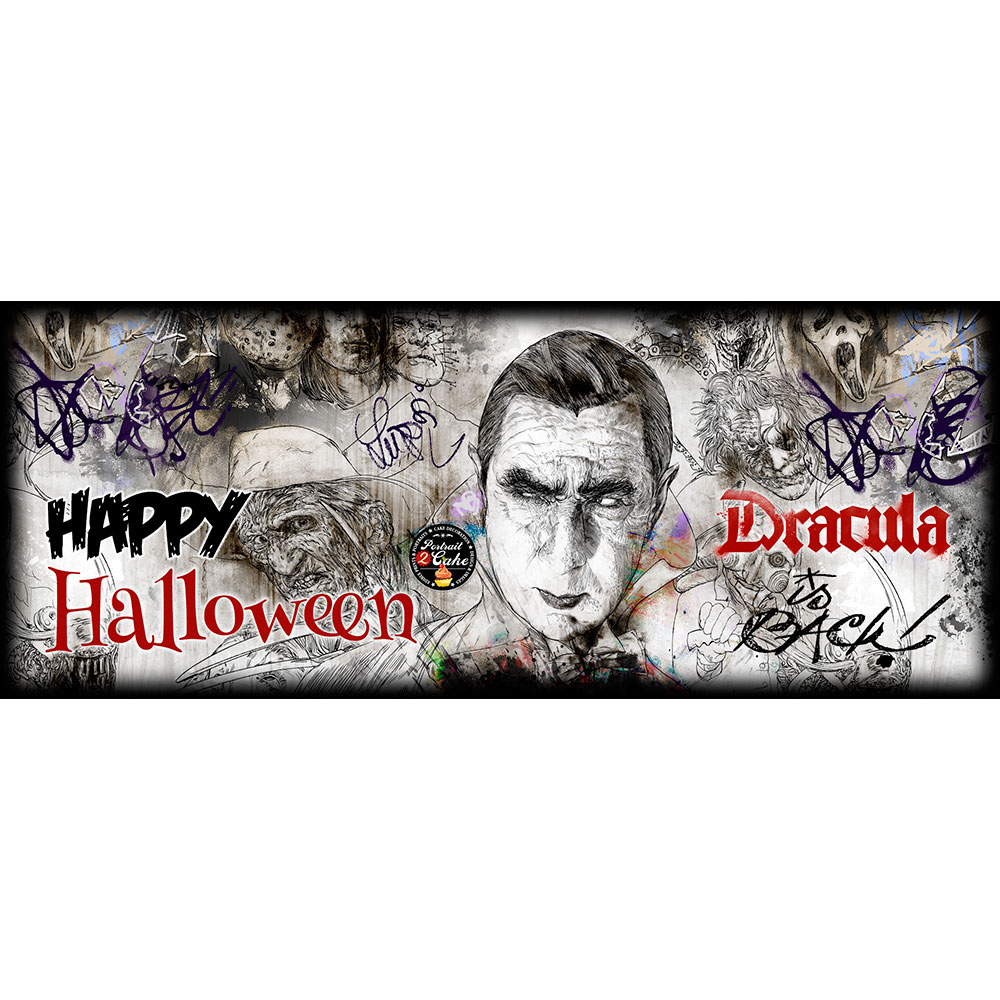 Halloween cake toppers Dracula is back