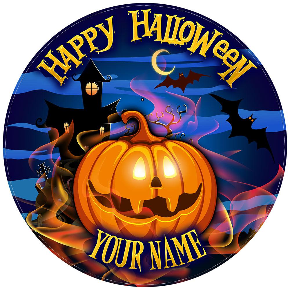 Halloween Cake Toppers Smiley Pumpkin