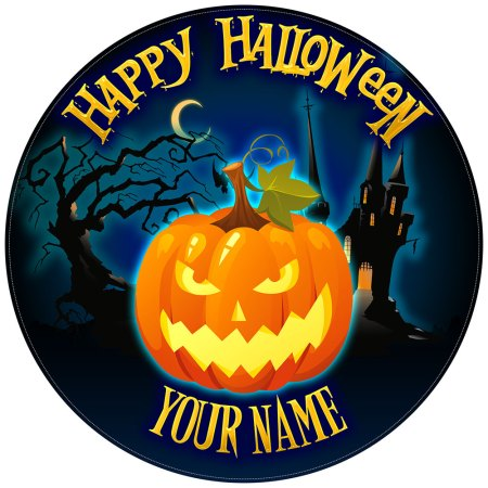 Halloween Cake Toppers Glowing Pumpkin
