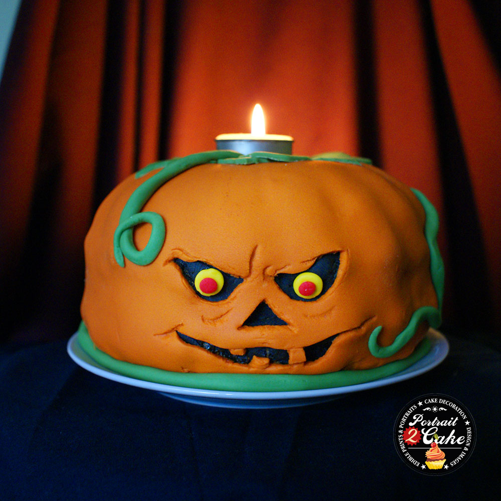 Halloween party bundt cake with edible icing