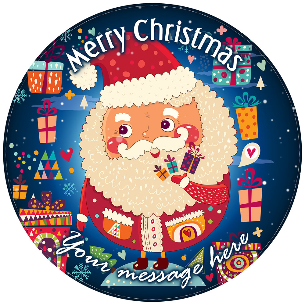 Personalised Santa Claus Funny Cake Topper Christmas Cake Decoration image