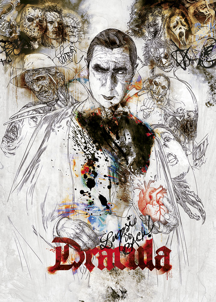 Limited Edition Greeting Cards - Dracula image