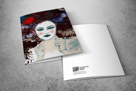 Limited Edition Greeting Cards - Geisha