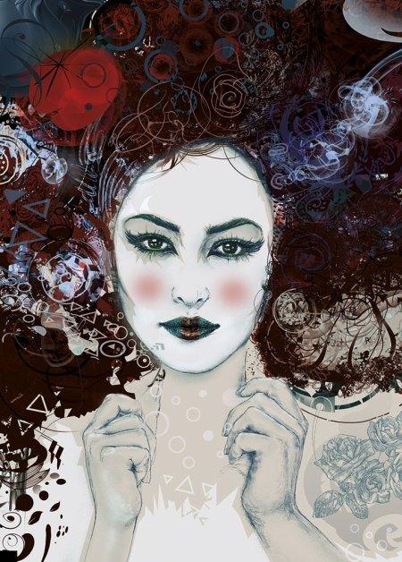 Limited Edition Greeting Cards - Geisha image