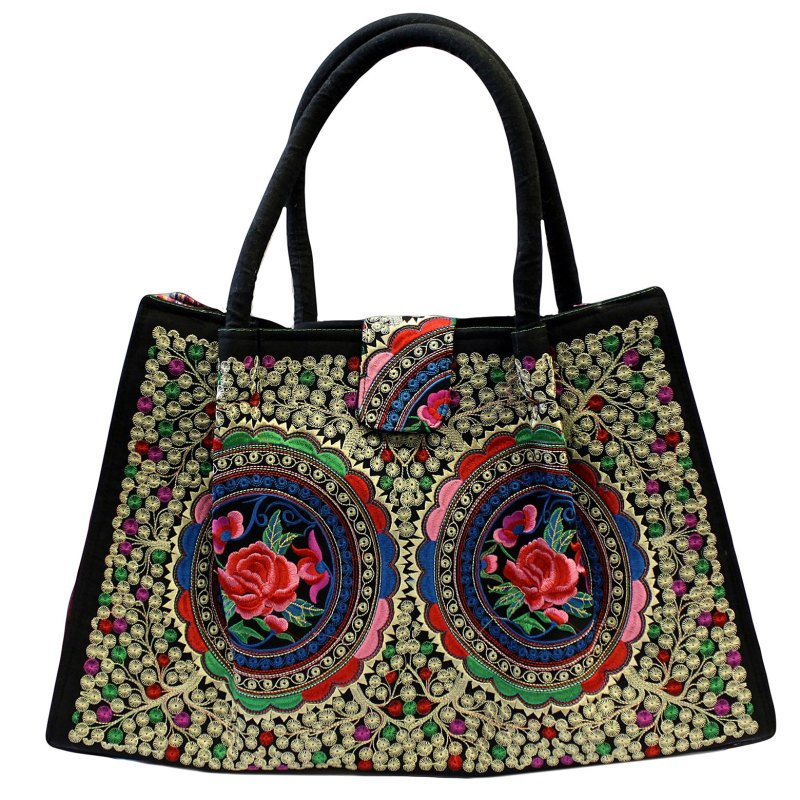 jolly big fashion bags blue lotus flovers