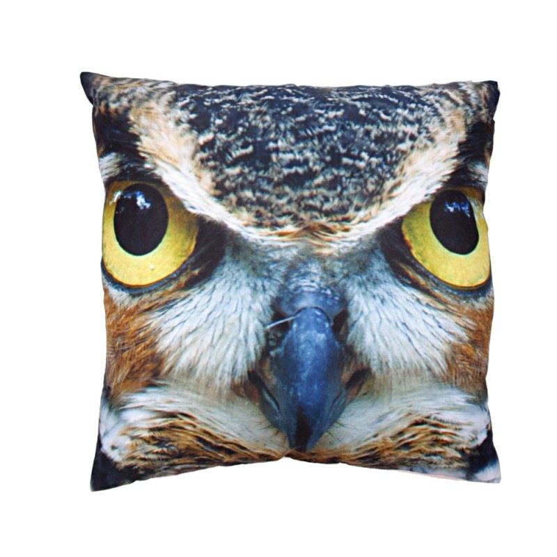 decorative art print owl cushion