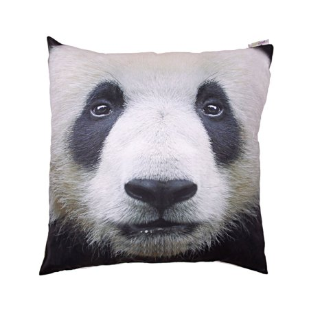decorative art print panda cushion