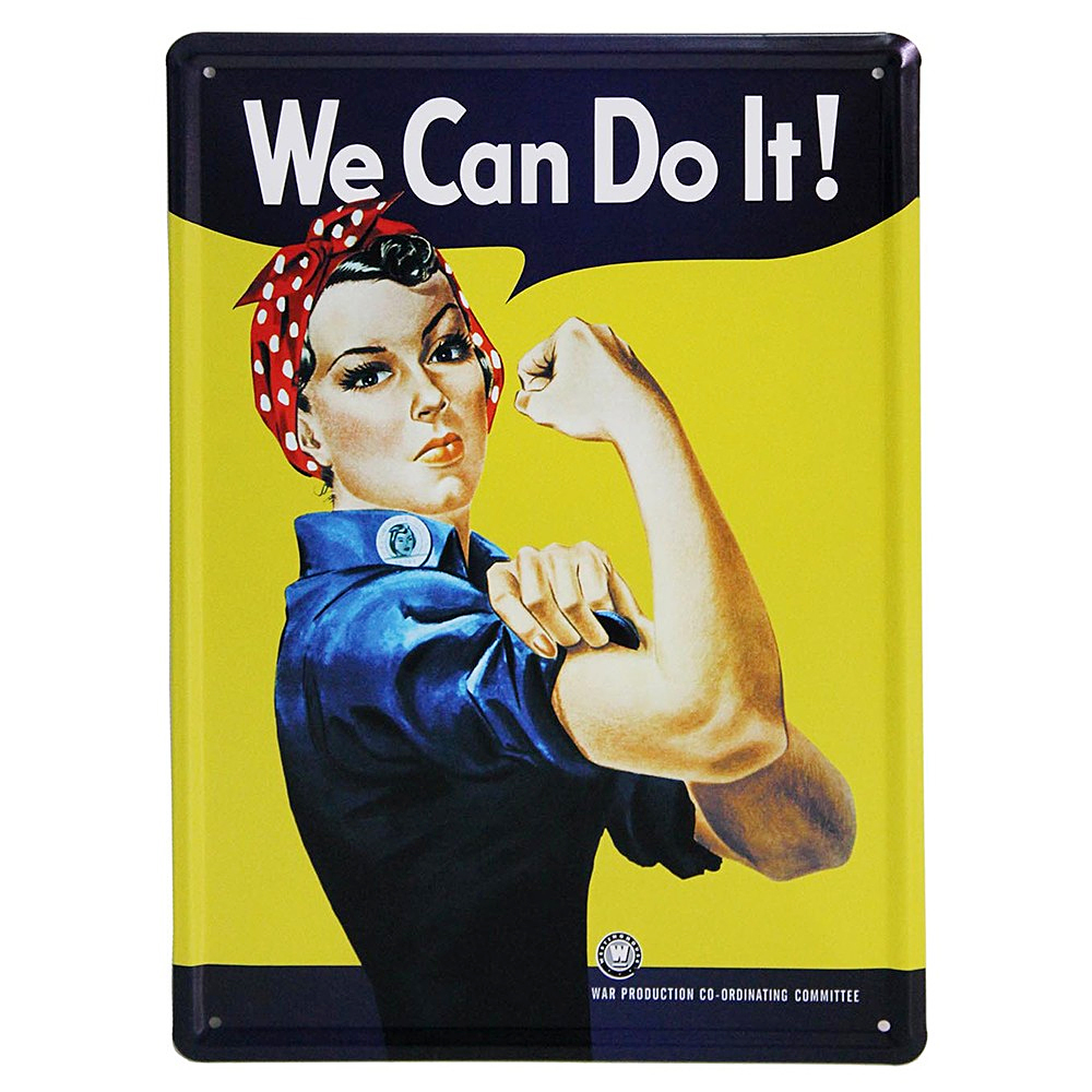 Metal Sign Plaques - We Can Do It!