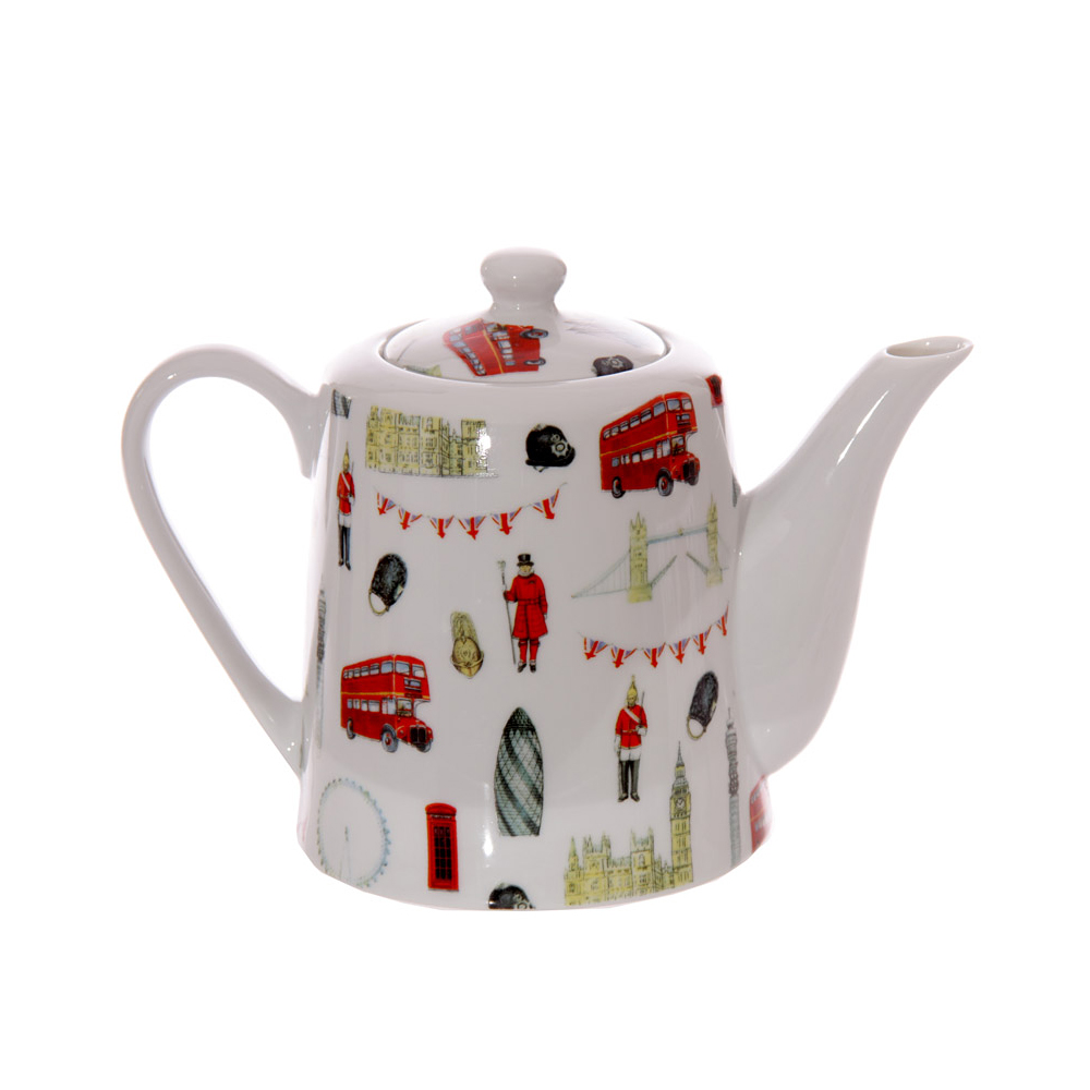 Unique Gift Stores: Bone China London Teapots 1 Litre