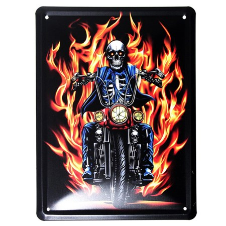 Hells Angels Metal Plaque