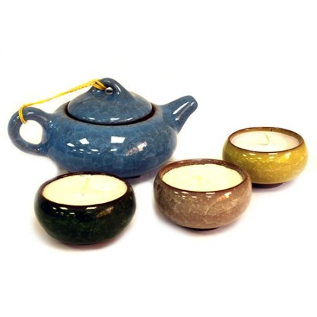 oriental teacup candles set 2