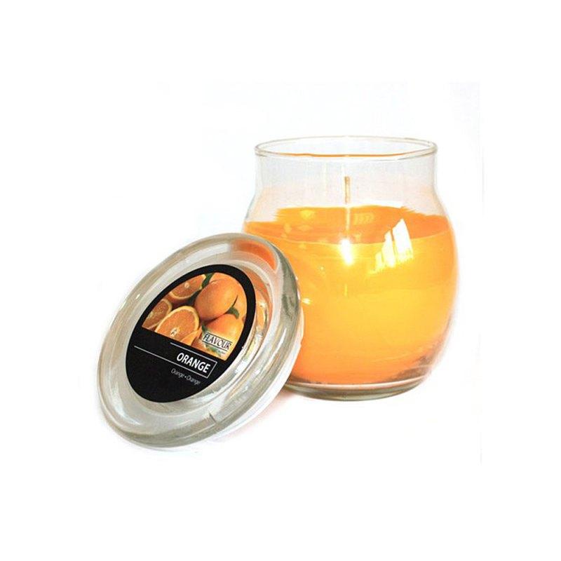 scented glass jar candles orange