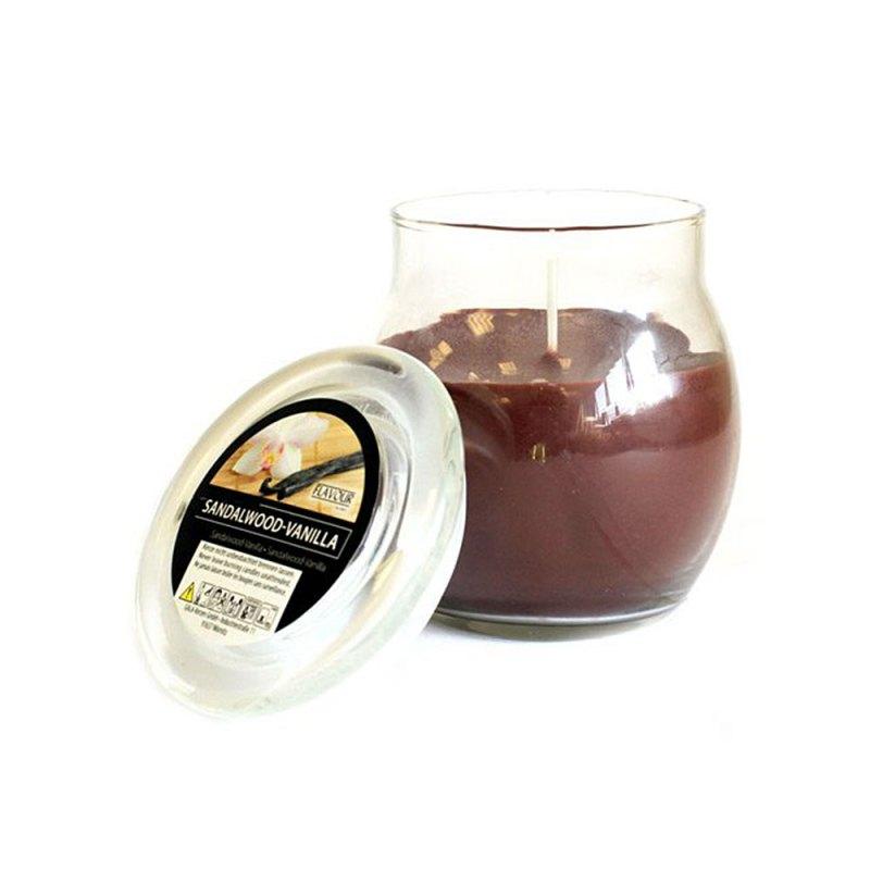 scented glass jar candles sandalwood vanilla