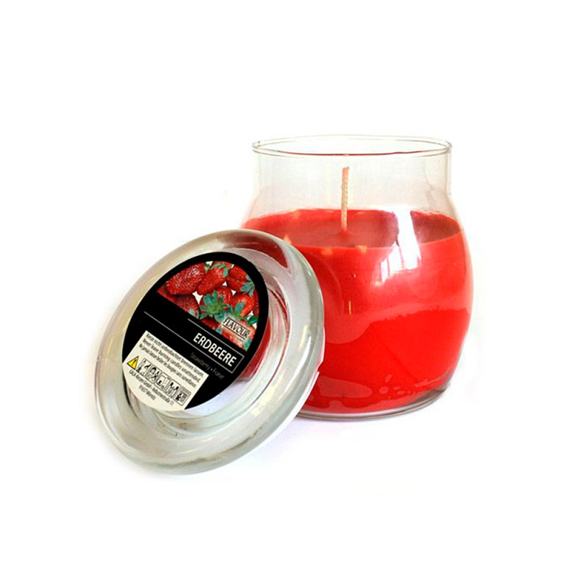 scented glass jar candles strawberry