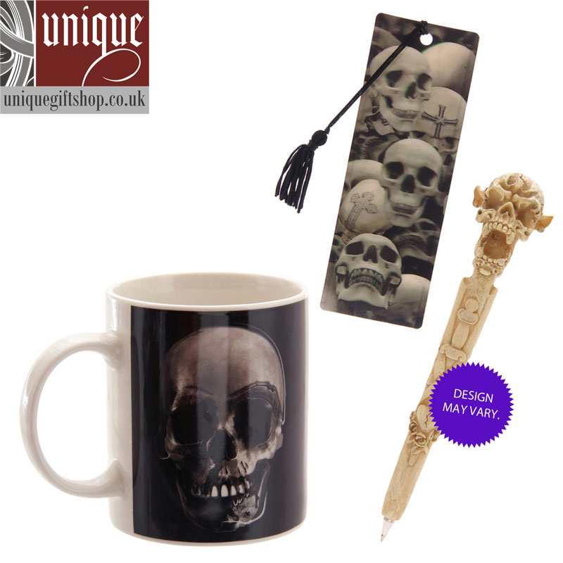 black skull coffee mug set from uniquegiftshop.co.uk image 2