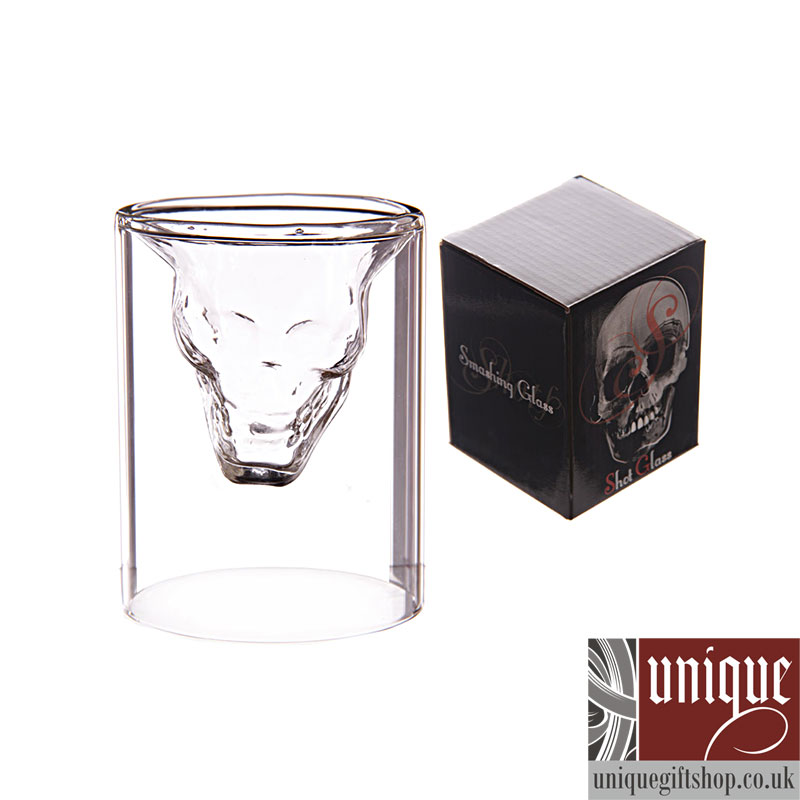 Transparent Creative Scary Skull Design Cup Shot Glass