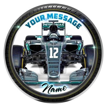 formula one car cake topper mercedes