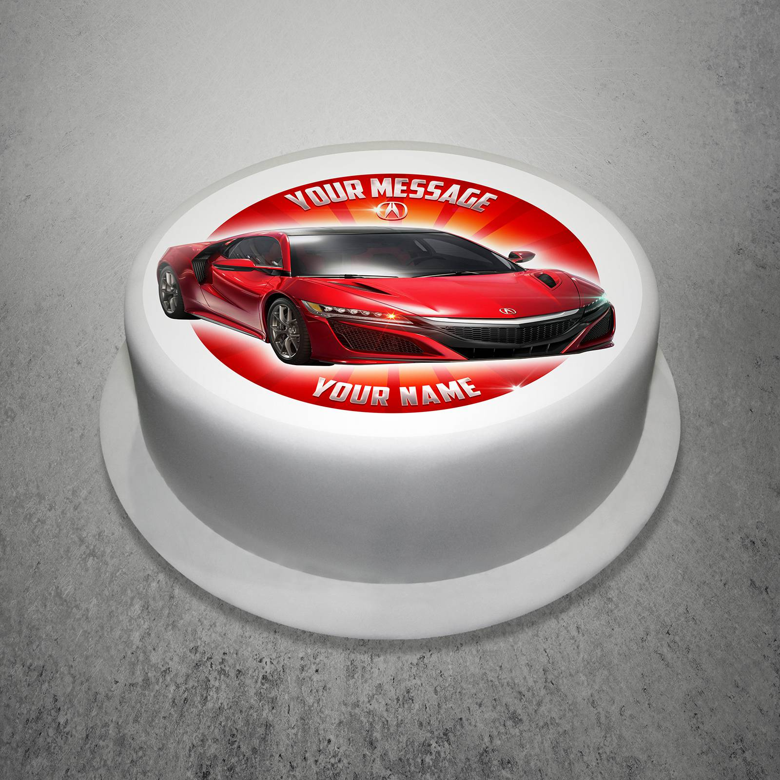 Unique Gift Shop London Personalised Honda Cake Topper Edible