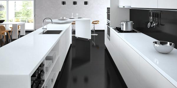 Caesarstone Kitchen White