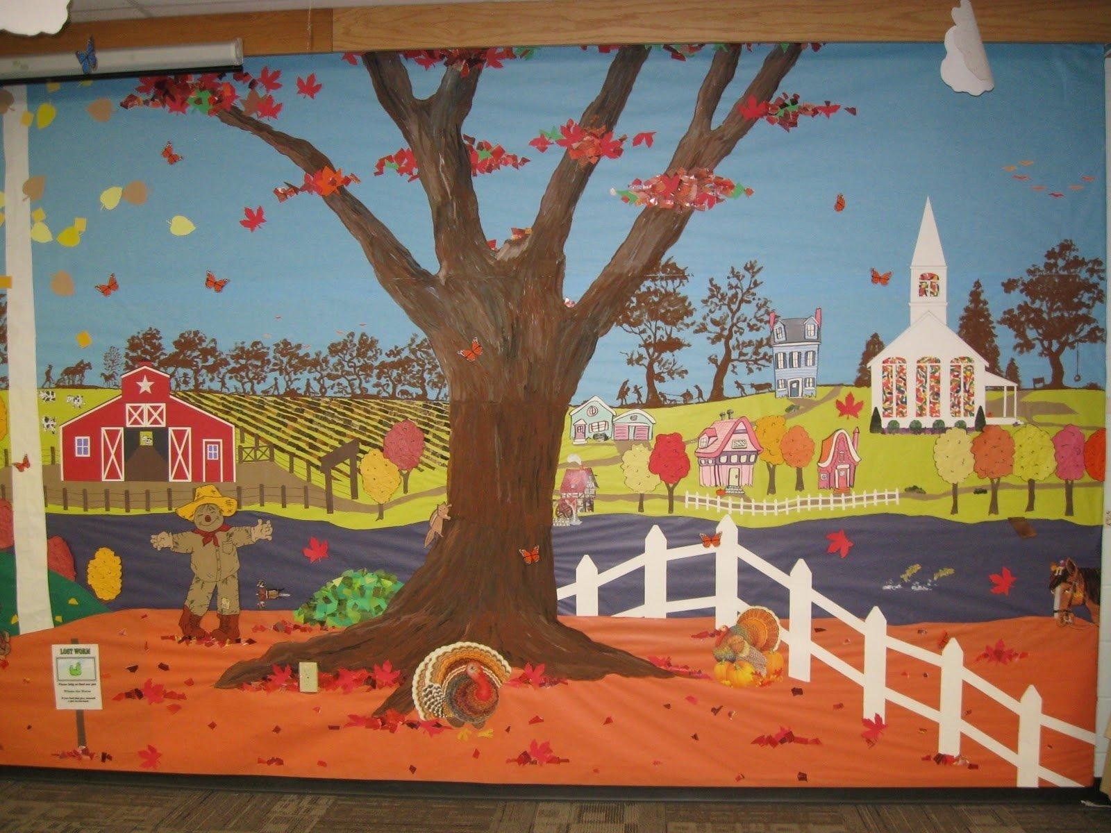 Preschool Fall Bulletin Board Ideas Novocom Top